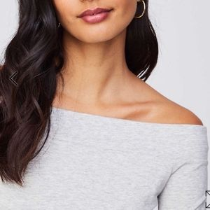 NWT LOFT gray off the shoulder tee size XL